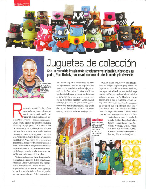 Kidrobot in Men's Vogue Latin America