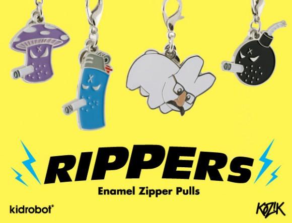 Kidrobot Rippers Enamel Zipper Pulls