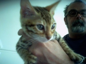 Frank with Eddie Goralsky the Cat, October 2007