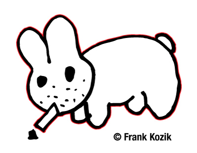 Original sketch of Smorkin' Labbit, circa 1996