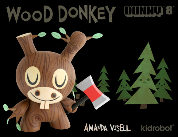 Amanda Visell Wood Donkey Dunny
