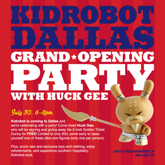 Kidrobot Dallas Grand Opening Party with Huck Gee