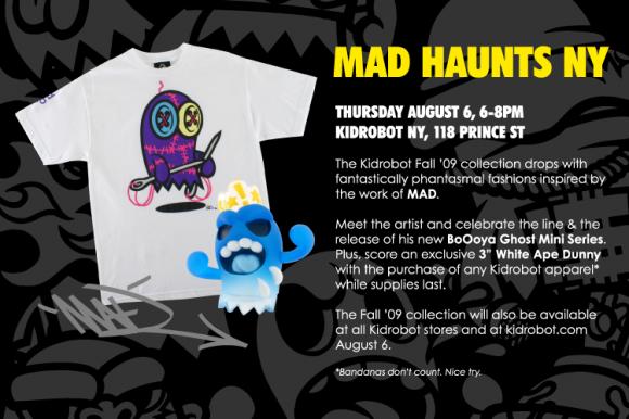 MAD Haunts Kidrobot NY