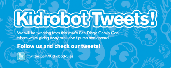 Kidrobot Tweets at San Diego Comic Con