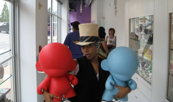 Erykah Badu at Kidrobot Dallas