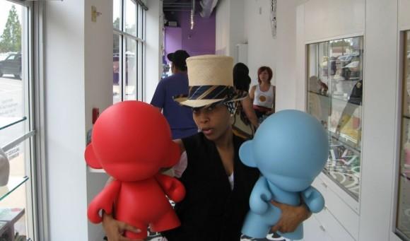 Erykah Badu at Kidrobot Dallas