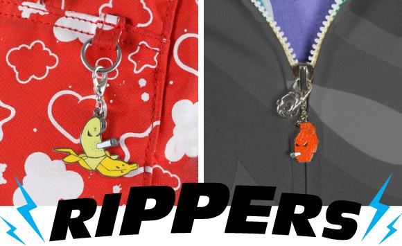 Frank Kozik Rippers Zipper Pulls at Kidrobot