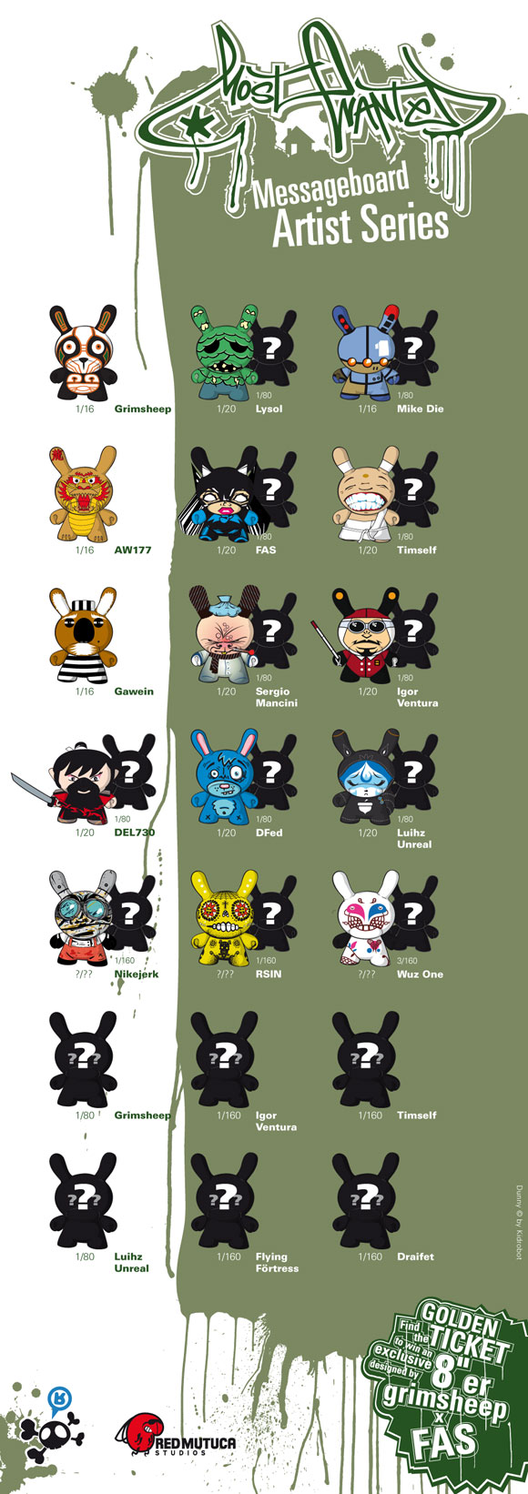 Kidrobot Messageboard Artist Series
