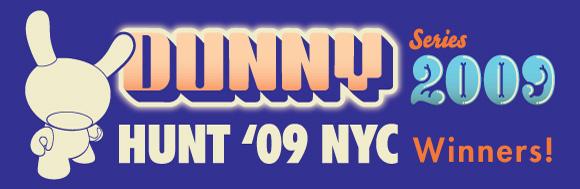 Dunny Hunt '09 NYC Winners