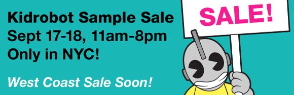 Kidrobot NYC Sample Sale