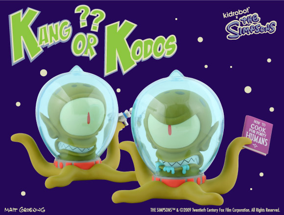 The Simpsons Kang & Kodos from Kidrobot