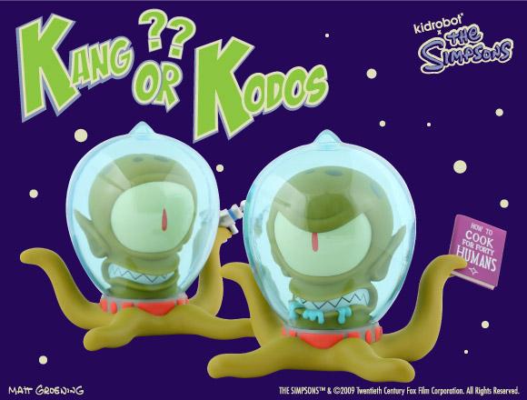 The Simpsons Kang & Kodos from Kidrobot