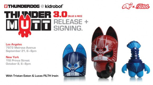 Thundermutt signing at Kidrobot