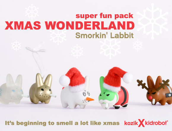 Xmas Wonderland Labbit 5-Pack by Frank Kozik