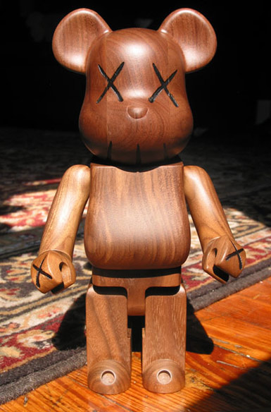 400% Wooden WWT Be@rbrick, 2005 - KAWS
