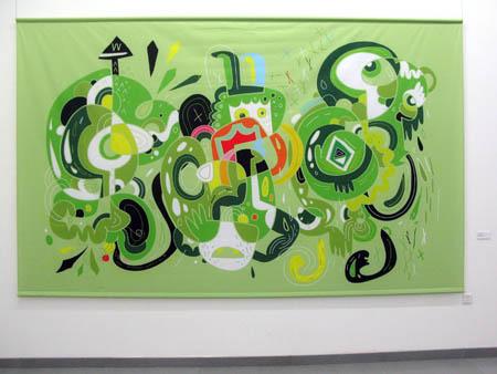 Evergreen, fabric print
