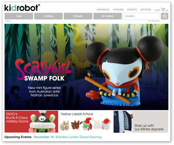 The New kidrobot.com!