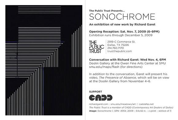Sonochrome by Richard Garet