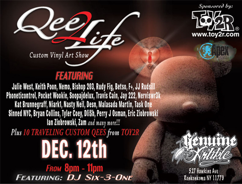 Qee to Life customs show at Genuine Artikle