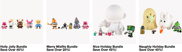 Kidrobot Holiday Bundles = big savings!