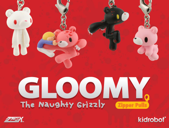 Gloomy Bear Zipper Pulls by Mori Chack