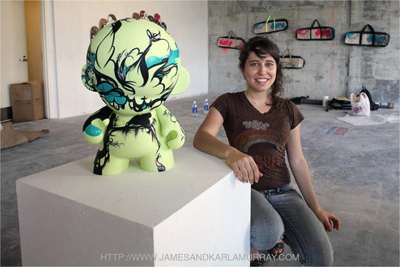 Sofia Maldonado at Graffiti Gone Global, Art Basel 2009