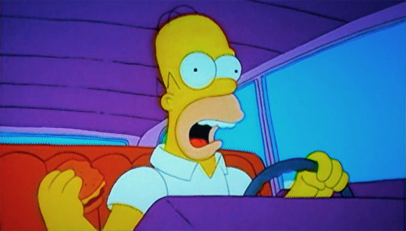 Homer drives you home