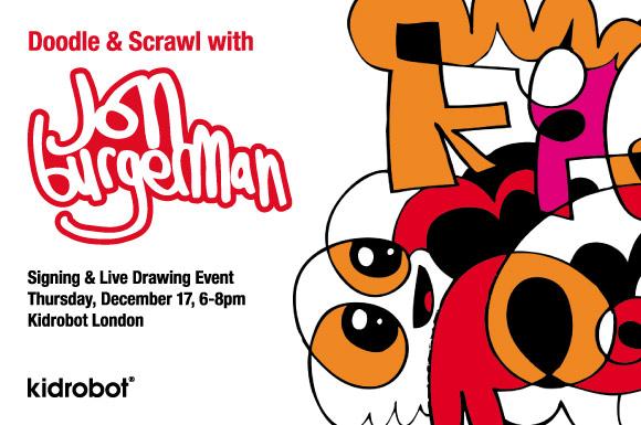 Jon Burgerman at Kidrobot London December 17