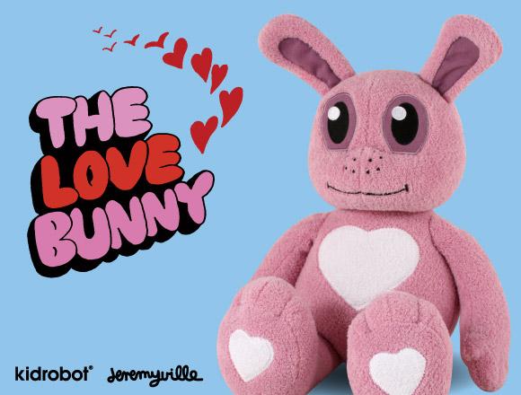 Jeremyville Love Bunny plush