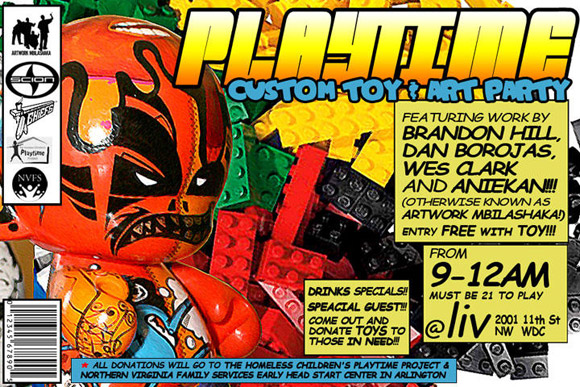 Playtime Toy Drive and Custom Show