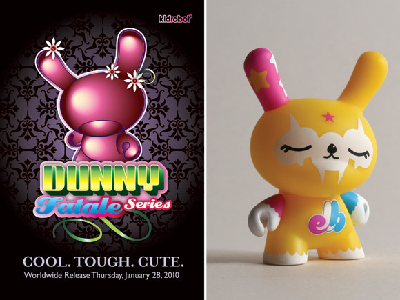 Dunny Fatale KLOR Exclusive giveaway with purchase of a case at select retailers