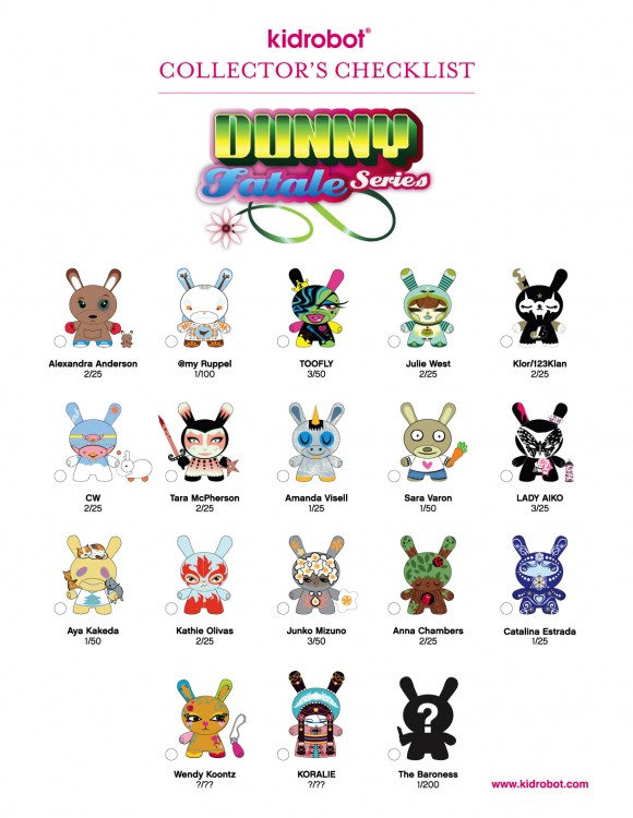 Dunny Fatale Series Checklist