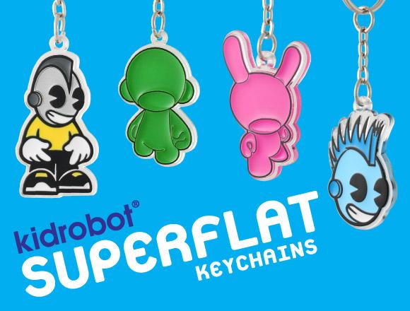 Kidrobot Superflat Keychains