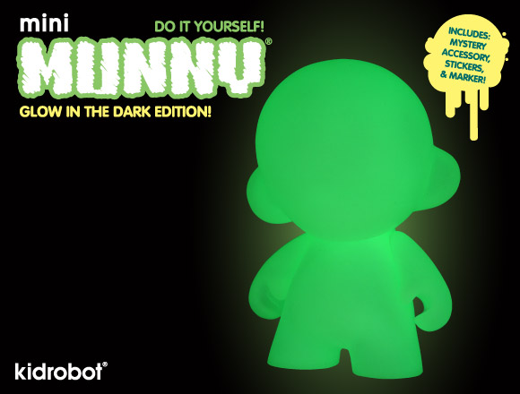 mini MUNNY Glow in the Dark