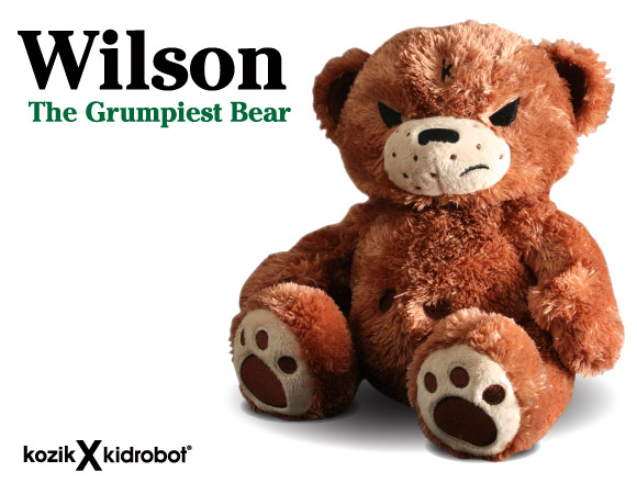 Wilson The Grumpiest Bear (Non-Smorkin' Edition) by Frank Kozik