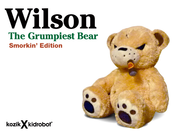 Wilson The Grumpiest Bear (Smorkin' Edition) by Frank Kozik
