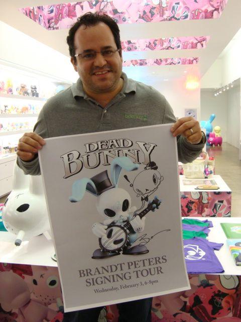 Brandt Peters Signing Kidrobot Miami