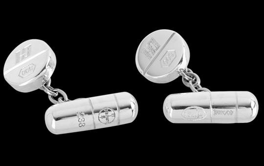 Damien Hirst Pill Cufflinks