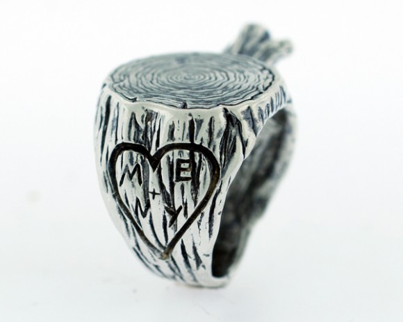 Digby and Iona Stump Ring Heart