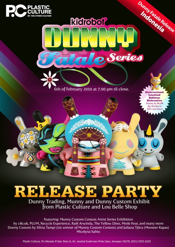 Dunny Fatale Release at Plastic Culture by TOC in Indonesia