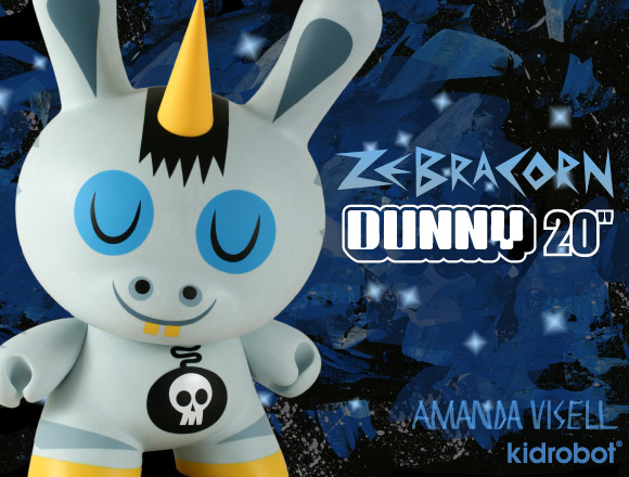 Zebracorn Dunny 20-inch by Amanda Visell