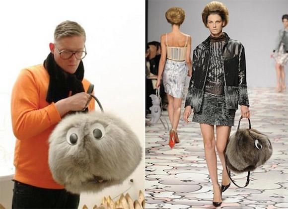 High Fashion Plush Handbag