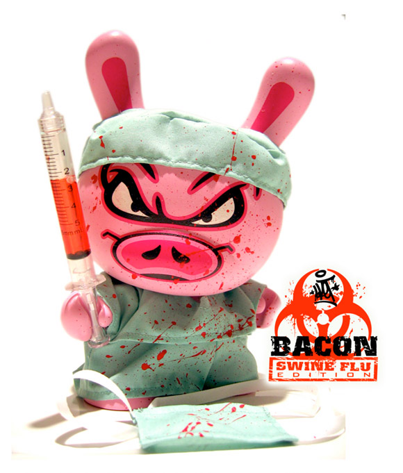 Sket One's Bacon Swine Flu Custom Dunny