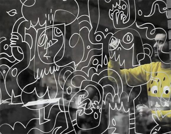 Jon-Burgerman-Window-Doodle