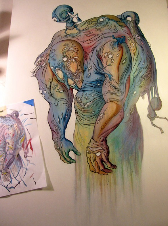 analysis of alex pardees artwork Alex pardee grew up in the bay area, and first dabbled in art when he made the  positive correlation between creating art and eliminating his.