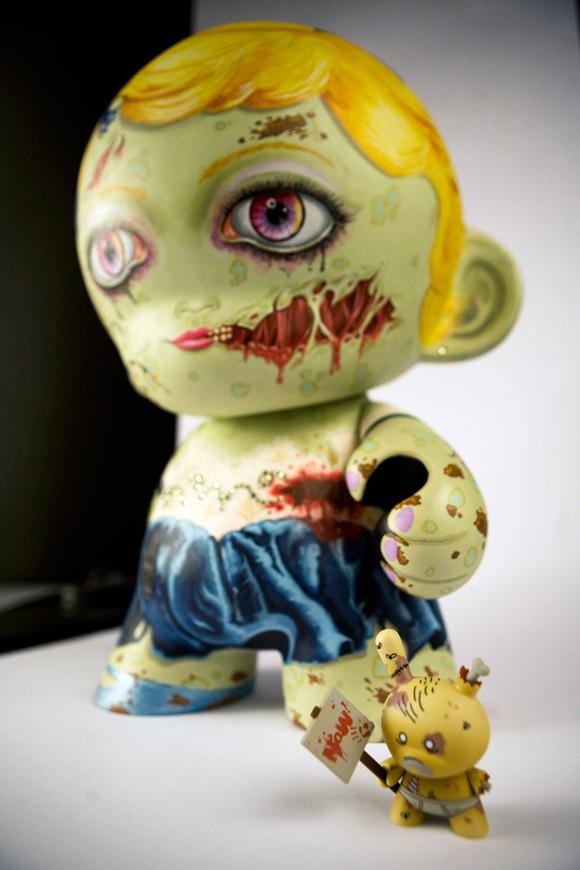 Cute Amp Creepy Custom Zombie Mega Munny By Tadeo Mendoza