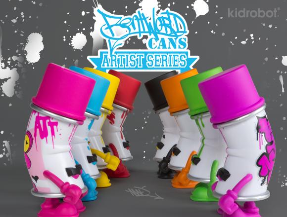 Product Preview Bent World Spray Can Mini Series Kidrobot Blog