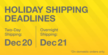 Kidrobot.com Holiday Shipping Deadlines