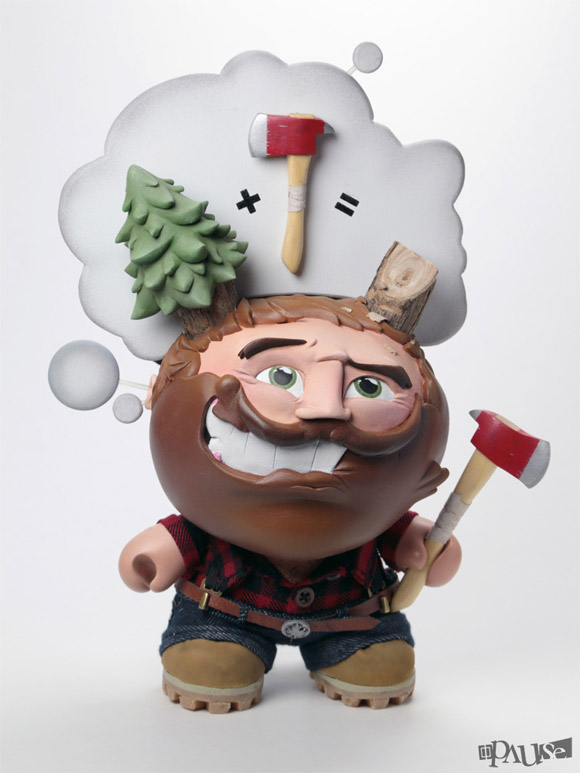 "... For A Daydream"" Custom 8-inch Dunny By Pause Designs - Kidrobot Blog"