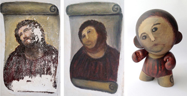 Meme-tastic Custom MUNNY Pokes Fun At Epic Fail Fresco Restoration